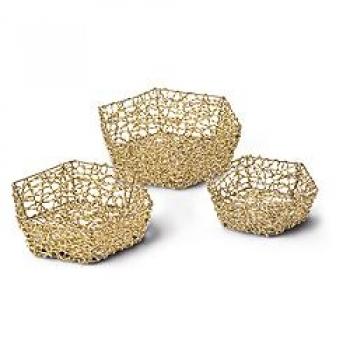 verpackungen f r alle schale sechseckig konisch weiss gold mittel lieferung solange vorrat. Black Bedroom Furniture Sets. Home Design Ideas