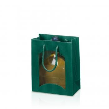 verpackungen f r alle tragtasche 2er offene welle gr n. Black Bedroom Furniture Sets. Home Design Ideas