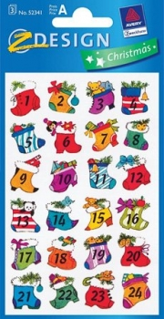 Schmucketiketten Adventskalender Motive 1-24 neu
